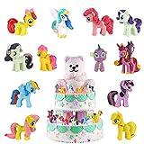 Juego de Mini Unicornio de 12 Piezas, Sombrero de Copa de Unicornio, Sombrero de Copa de Pastel de Cumpleaños, Juguetes para Niños, Decoraciones de Fiesta Temática de Unicornio