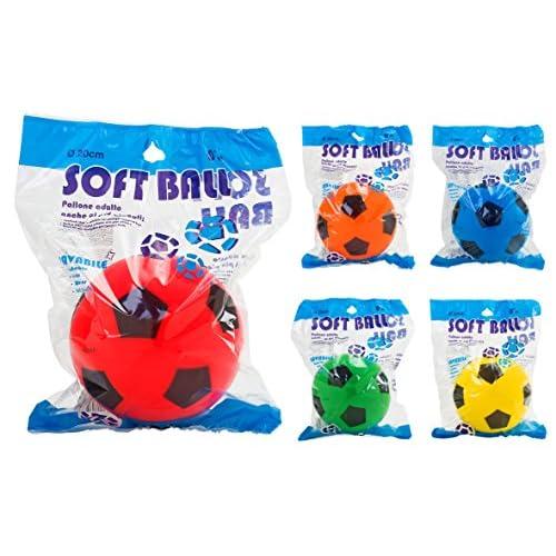 W'TOY- Pallone in Spugna Diametro, Colore Assortito, 20 cm, 38347