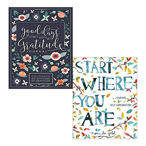Good Days Start With Gratitude and Start Where You Are [Journal] 2 Books Collection Set