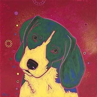 Squirrel Enthusiast - Beagle Wall Art,Warhol Inspired, Colorful Dog Prints by Angela Bond