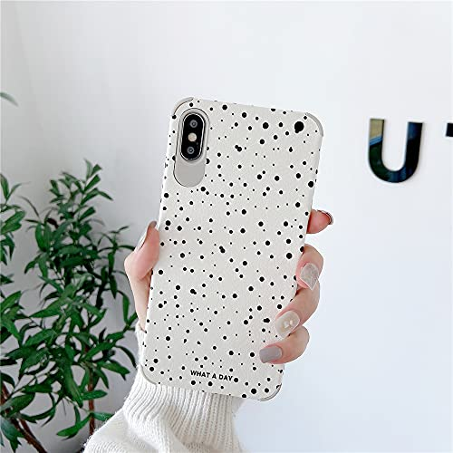 Cute Spot Half-Wrapped PU Leather Phone Case for Apple iPhone Xs Max Soft Silicone Cover High Protective Best Feeling Cover for iPhone Xs Max (for iPhone XSMax)