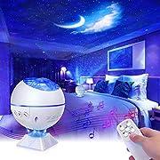 Mirapretty LED Sternenhimmel Projektor Lampe Nachtlicht Discokugel mit Fernbedienung, Einstellbare Helligkeit, Sterne,Mond,Wolken, Mini Starry Projektor Für Party,Auto,Schlafzimmer Erwachsene Kinder