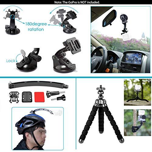 Neewer 21-in-1 Action-Kamera Zubehör-Kit für GoPro Hero 6 5 4 3+ 3 2 1, Hero Session 5 Black AKASO EK7000 Apeman SJCAM DBPOWER AKASO VicTsing Rollei - 8