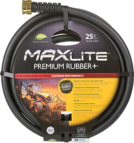 Swan Products CELSGC58025 Element MAXLite Premium Rubber+ Water Hose with Crush Proof Couplings 25