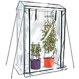 JonesHouseDeco Mini Invernadero de Tomates, Serre Aux Tomates, Cubierta de PVC Comercial Hermética y Cálida Transparente, Cremallera Doble Enrollada en la Parte Delantera 100 x 50 x 150 cm