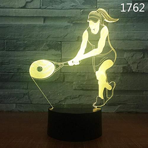 Olympische Sportballspielserie Farbe 3D USB Nachtlicht Neuheit Acryl LED Schreibtisch Tisch Tamp Boy Kinder Geschenk Home Decoration Tennis