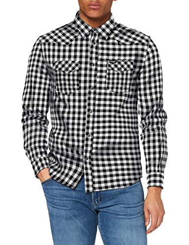 Wrangler LS Western Shirt Camisa, Blanco Crudo, M para Hombre