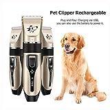 A001 - Cortapelos para perros y perros con USB, recargable, para aseo de perro, cortapelos eléctrico para animales (4 unidades, accesorios)
