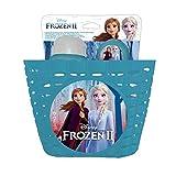 Disney Frozen II - Juego de Cesta/Botella de 380 ml/Timbre metálico - Accesorios para Bicicleta...
