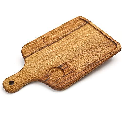 XYSQWZ Wooden Bread Board, Bread Kneading Board, Creative Wooden Breadboard with Handle Zebra Wood Snack Fruit Dinner Plate Food Supplement Board