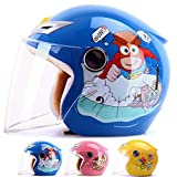 Child Safety Helmet,Boy and Girl Windproof Warm Half Helmet,Cute Cartoon ATV Kart Scooter
