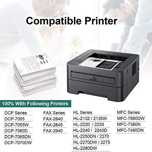 ONINO Tóner compatible con Brother TN2220 TN-2220 TN2010 TN-2010 para Brother HL-2130 MFC-7360N DCP-7055 HL-2240 HL-2240D HL-2250DN HL-2270DW DCP-7060D MFC-7460DN 7860DW FAX-2840DW FAX-2940 DCP-7070DW