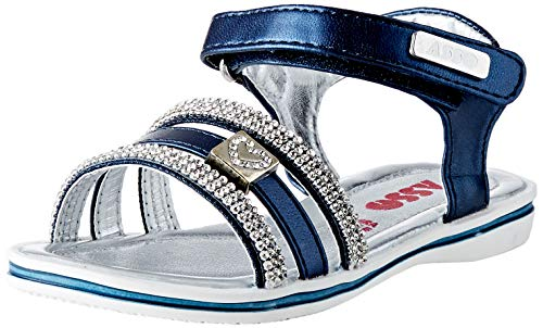 Asso, Sandali con Cinturino alla Caviglia Bambino, Blu (Blu 3001), 34 EU
