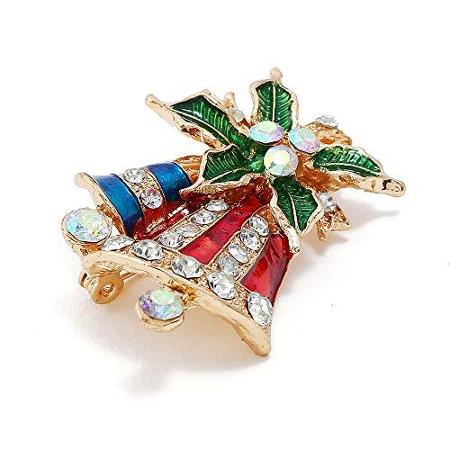Fliyeong Vintage Navidad Bell Traje Broche Pin Ropa Accesorios Práctico y Popular
