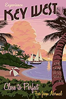 Wall Art Print Entitled Vintage Key West Travel Poster by Celestial Images | 11 x 16