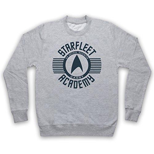 Star Trek Starfleet Acadamy Cadet Sweat-Shirt des Adultes, Gris, 2XL