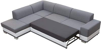 Confort24 Carmo Sofá Cama 3 Plazas Chaise Longue Reversible ...