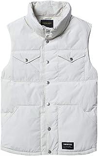 タンクトップ ベストベストダウン冬の厚手のメンズカップルジャケットベストショートコットンベストのジャケット高い襟ダウンベストノースリーブベストスリムライトコート (Color : 白, Size : XL)