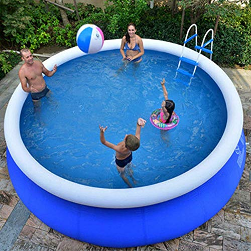 Piscina inflable, Piscina inflablePiscina inflable extra grande para niños adultos, piscina redonda de PVC, piscina hinchable para uso doméstico, piscinas para jardín al aire libre azul 180x73cm