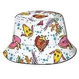 DJNGN Dibujos Animados Palomas Paz Patrón Unisex Casual Bucket Sombrero para el Sol Gorra de Pescador para Pesca Senderismo Camping