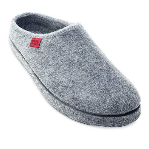 Andres Machado Unisex Hausschuhe für Damen und Herren für Sommer und Winter - Slipper/Pantoffeln - AM001, Grau, 40 EU