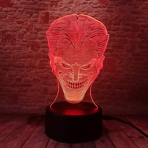 Led Nachtlicht Character Lächelndes Gespenst 3D Illusion Nachttisch Lampe 7 Farben Ändern Schlafen Beleuchtung Smart Touch Button Nette Geschenk Für Kinder Weihnachten Geburtstagsgeschenke