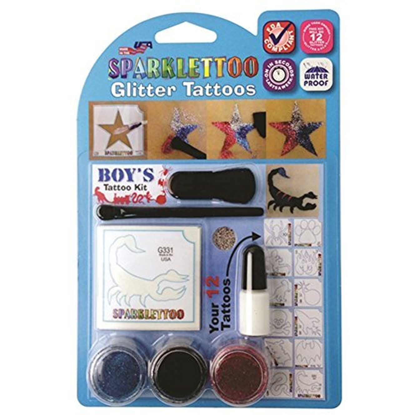 Ruby Red Paint Face Paint, Tattoo Kit - Glitter Boy