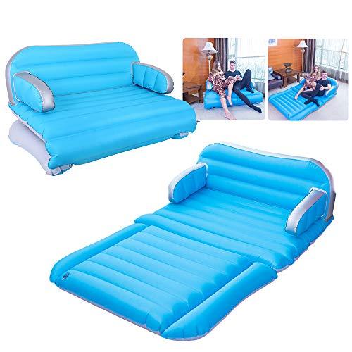 QDH - Colchón hinchable para el hogar, sofá, cama inflable, 4 en 1 para coche, colchón inflable, doble cara, engrosado, para camping, portátil, con bomba eléctrica, colchón...