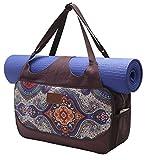 #DoYourYoga Große Yogatasche »Vimalaa Segeltuch (Baumwoll-Canvas), für EXTRA-Lange Yogamatten/Yogatragetasche in schönen Farben und Designs/Auch als Sporttasche geeignet/Farbe: Blaues Muster