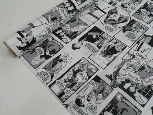 Metraje 2,45 MTS Tejido loneta Estampada Ref. Comic, con Ancho 2,80 MTS.