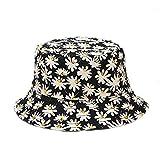 Wimark - Sombrero de pescador de doble cara con estampado de