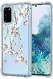 Oihxse - Carcasa transparente para Samsung Galaxy S20 (poliuretano termoplstico) y silicona protectora, antiaraazos, diseo de flores