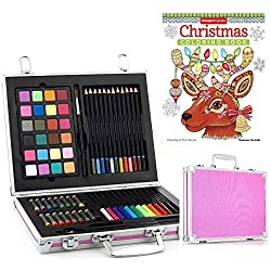 Gallery Studio - 69 Piece Deluxe Art Set in Pink Aluminum Case