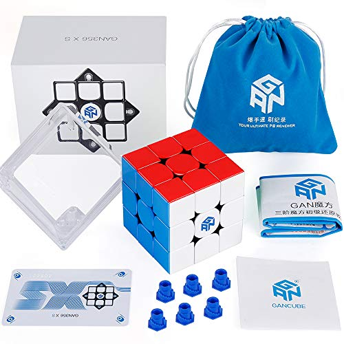 D-FantiX GAN 356 XS 3x3 Speed Cube Stickerless Gans 356XS 3x3x3 Magnetic GMS V2...