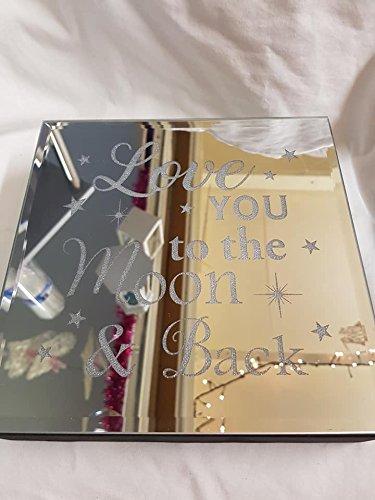 Love You To The Moon And Back, éclairage de plaque Miroir (piles non incluses) : environ 20 x 4 cms