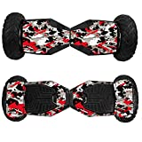 MightySkins Skin Compatible with Swagtron T6 Off-Road Hoverboard - Red Camo | Protective, Durable, and Unique Vinyl Decal wrap Cover |...
