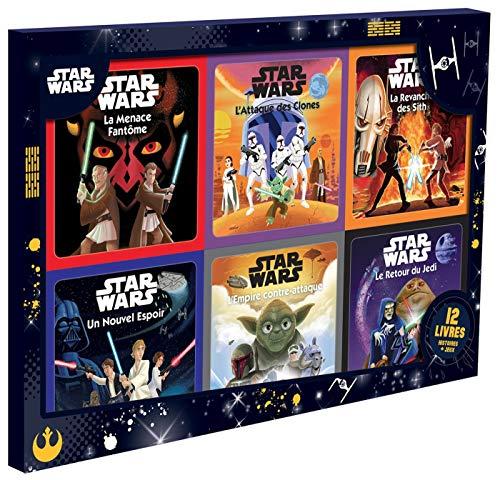 STAR WARS - Coffret 12 livres - 6 Histoires + 6 Coloriages
