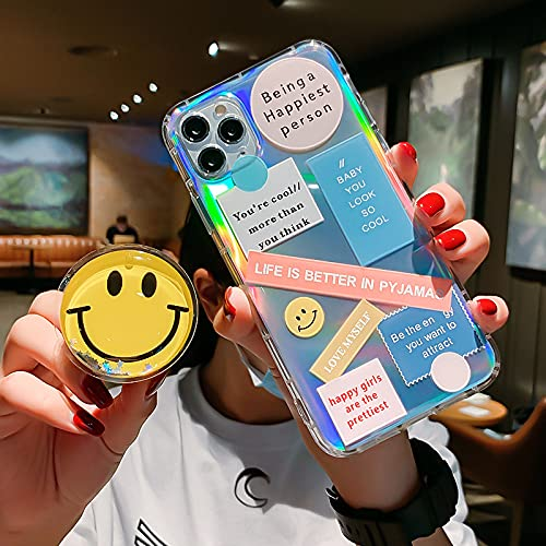Simpatico porta smiley 3D per Samsung Galaxy A50 A51 A70 A71 A10 A30 S8 S9 S10 S10e S20 S21 Plus S21 Cover posteriore in silicone ultra,2,A72