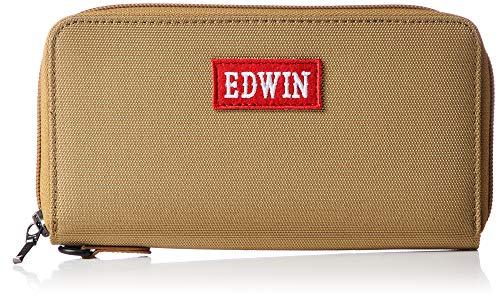 [エドウィン] ウォレット スマートフォン収納 ハイライトワッペン カード収納 小銭収納 大容量 ベージュ
