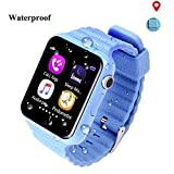 Smartwatch Niños Reloj Inteligente Mujer y Hombre Demiawaking Inteligente Pulsera para Iphone y Android con Cámara Seguridad Anti-Lost GPS Tracker Kids SOS Emergencia Facebook Twitter