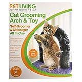 Pet Living Arco de Arco para Gatos, Juguete de Cuidado y masajeador...
