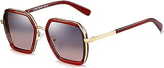 SGJFZD Vintage Retro Outdoor Seaside Sunscreen UV400 Polarized Sunglasses Fishing Ladies's Polarized Sunglasses Trendy Polarized Sunglasses Sporting Large Frame Elegant Sunglasses (Color : Red)