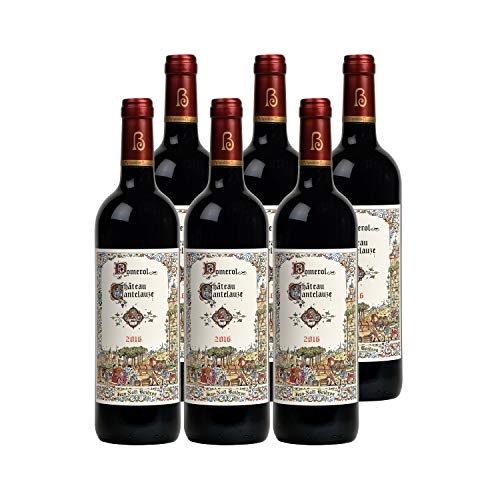 Château Cantelauze Pomerol Rotwein 2016 - g.U. - Bordeaux Frankreich - Rebsorte Merlot, Cabernet Franc - 6x75cl - 93/100 United Kingdom 2020 International Wine Challenge