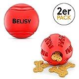 BELISY Conjunto de Juguetes para Cachorro y Perro | Pelota de Goma Suave (7cm) +...