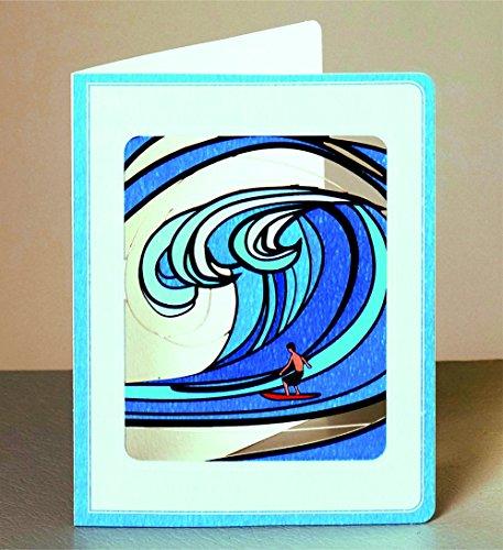 Forever Geburtstag Laser Cut Karte 3D Grußkarte Wellenreiten Surfer 14x11cm