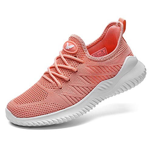 AEONSHI Walking Tennis Shoes - Women Slip On Memory Foam Lightweight Casual Sneakers for Work Travle Sport (US 5.5-10 B(M) Pink
