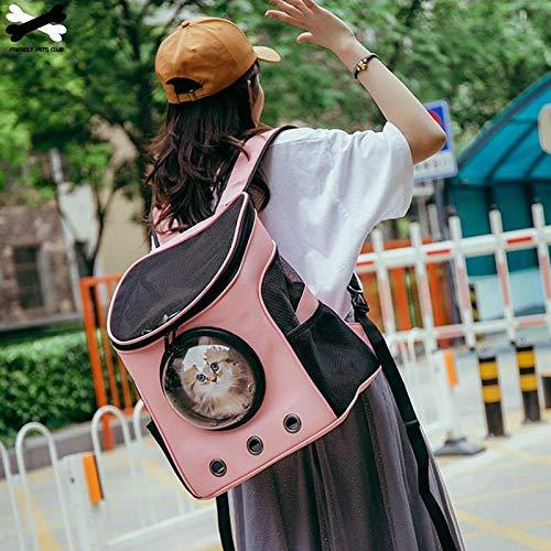 CHOGOUG Pet Bag Katzenrucksack Fenster Astronautentasche für Katzenrucksack Träger für Kapsel Hunde Pet Trave