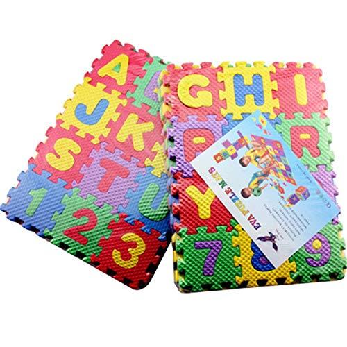 Nihlsfen Alfombra de Juego de Rompecabezas de Espuma EVA para bebés, alfombras para niños, Alfombra entrelazada, Piso de Ejercicio, Rompecabezas de Piso para niños, Azulejos de Alfombra