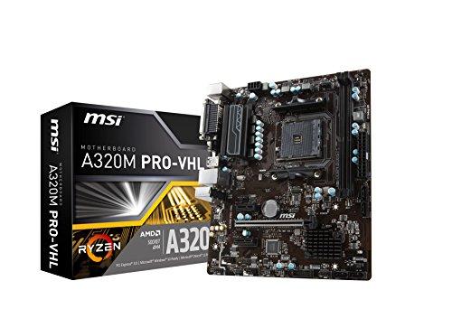 MSI ProSeries AMD Ryzen A320 DDR4 VR Ready HDMI USB 3 micro-ATX Motherboard (A320M PRO-VHL)
