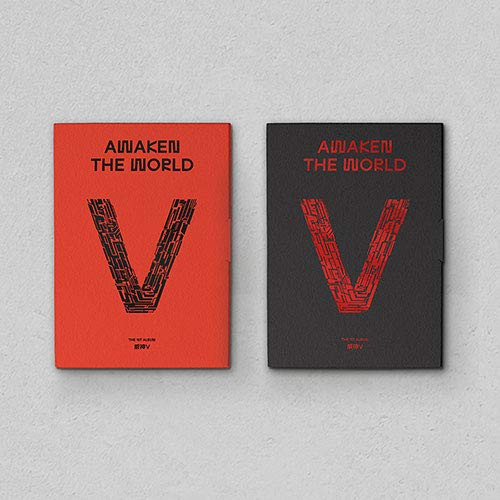 LABEL V WAYV – Despertar el mundo (Vol.1) Álbum + póster en paquete + juego de tarjetas de fotos adicionales